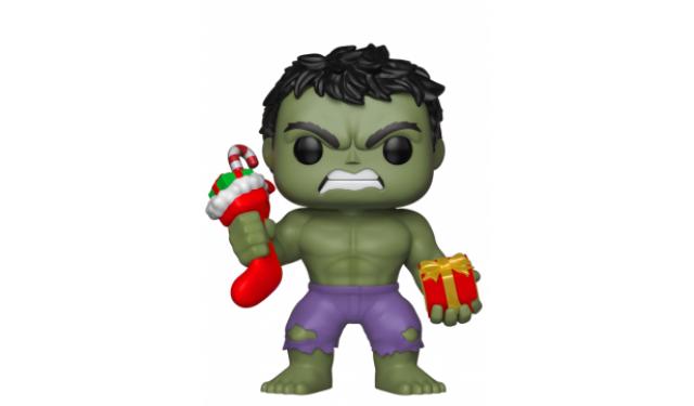 Фигурка Funko Bobble: Marvel: Holiday: Hulk w/ Stocking & Plush 33984