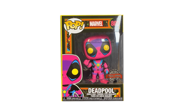 Фигурка Funko POP! Bobble Marvel Black Light Deadpool (Exc) 55091