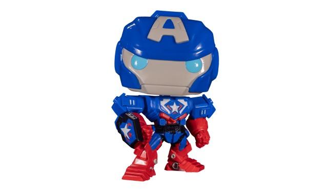 """Фигурка Funko POP! Bobble Marvel Avengers Mech Strike Captain America (Exc) 10"""" 55826"""