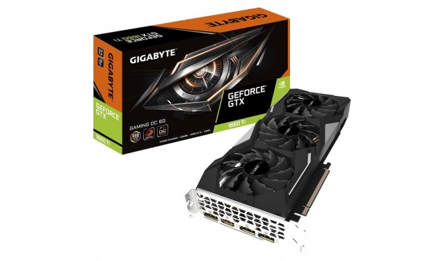 Видеокарта GIGABYTE GeForce GTX 1660 Ti 1860MHz PCI-E 3.0 6144MB 12000MHz 192 bit HDMI HDCP GAMING OC (GV-N166TGAMING OC-6GD)