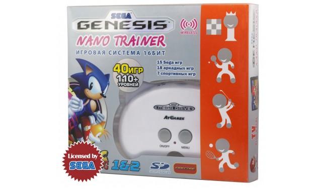 Игровая приставка SEGA Genesis Nano Trainer + 40 игр белый