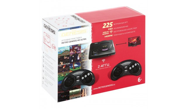 Игровая приставка Retro Genesis HD Ultra 225 игр