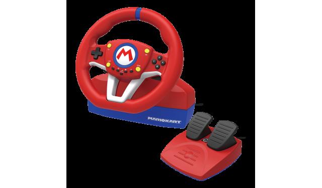 Руль с педалями Hori Mario Kart racing wheel pro (NSW-204U)