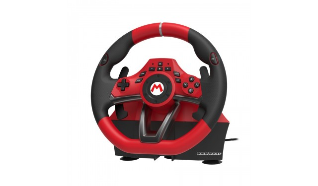 Руль с педалями Hori Mario Kart racing wheel pro Deluxe (NSW-228U)