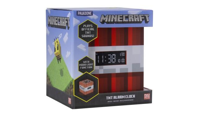 """Будильник Minecraft TNT Alarm Clock PP8007MCF выполнен в стиле игры """"Minecraft""""."""