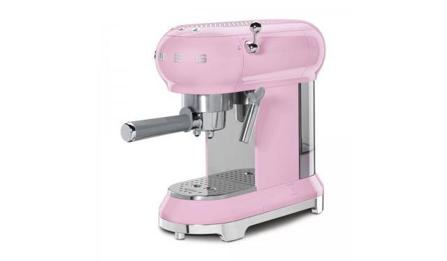 Кофеварка рожковая smeg ECF01 pink