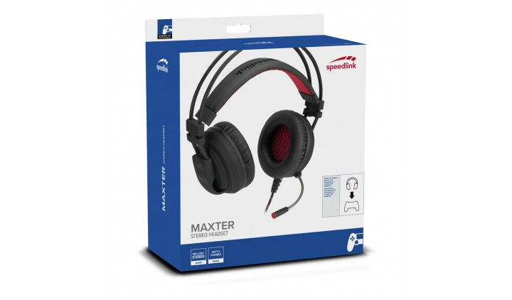 Компьютерная гарнитура SPEEDLINK SL-450300-BK MAXTER Stereo Headset - for PS4