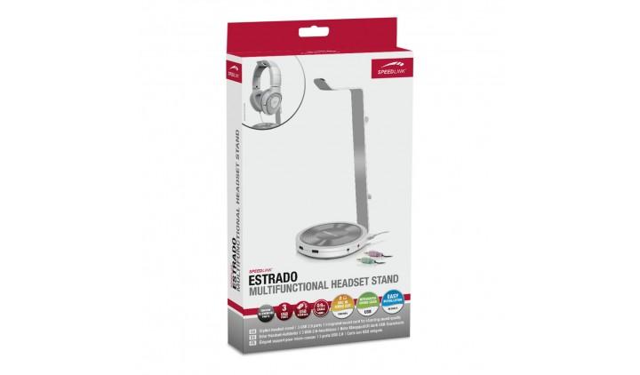Подставка для гарнитуры со встроенной звуковой картой SPEEDLINK ESTRADO white SL-800102-WE